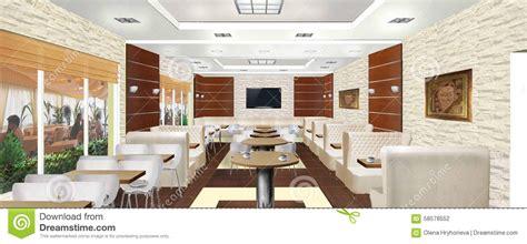 interior design cafe project interior design of a cafe or restaurant stock