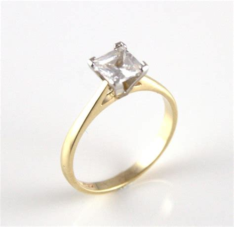 unique 1ct princess cut engagement ring 9ct gold