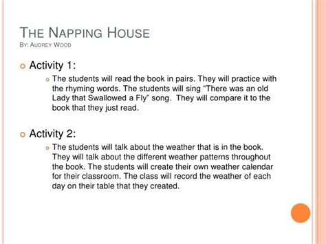 The Napping House Lesson Plan The Napping House Lesson Plans Home Design And Style
