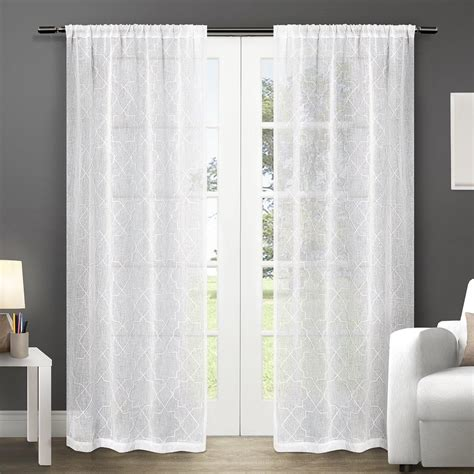 exclusive home curtains com exclusive home cali embroidered semi sheer rod