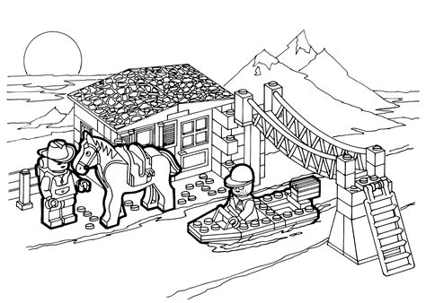 lego education coloring pages lego bridge coloring page for kids printable free lego