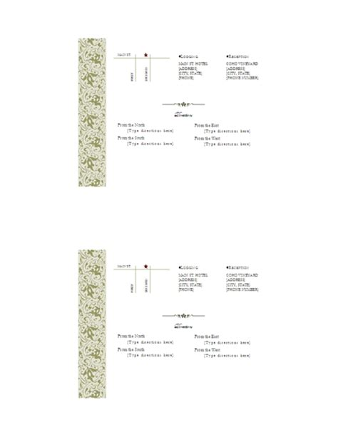 printable directions for invitations download free printable invitations of directions insert