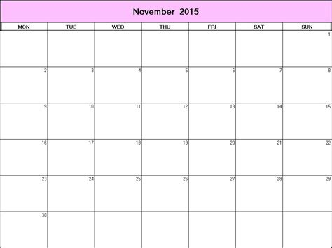 Calendar Template Printable November 2015 Printable Desk Calendar November 2015 Calendar Template 2016
