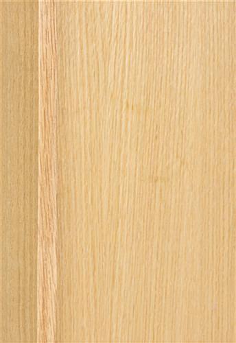freestanding oak poster stand light stain finish