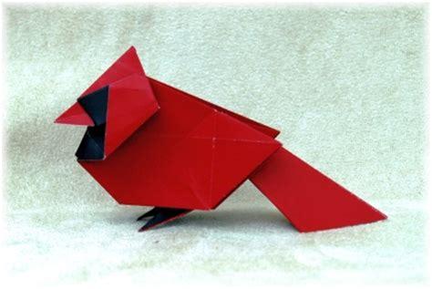 Origami Cardinal - origami gallery 2011