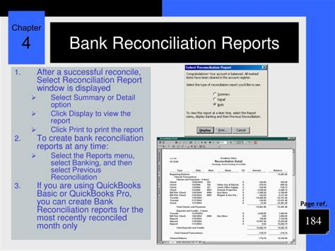 Print Previous Reconciliation Report Quickbooks Mac by Ppt Chapter 4 Powerpoint Presentation Id 1101619