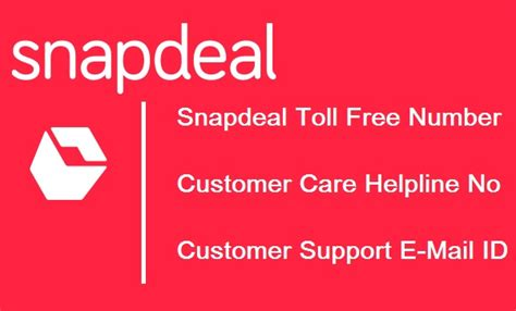 snapdeal toll free number 1800 customer care helpline