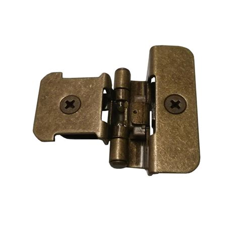 kitchen hinges for cabinets amerock double demountable 1 4 quot overlay hinge burnished
