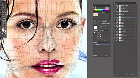 tutorial illustrator vector face how to vector the ears neck and eyebrows with the