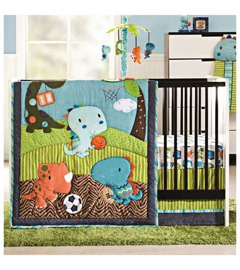 Kidsline Dino Sports 4 Piece Crib Bedding Set Sport Crib Bedding Set