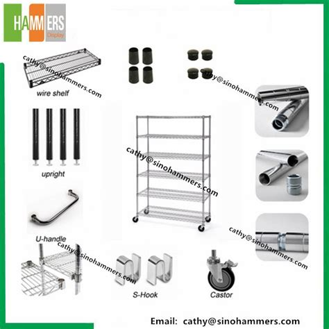 adjustable chrome metro wire shelving for storage