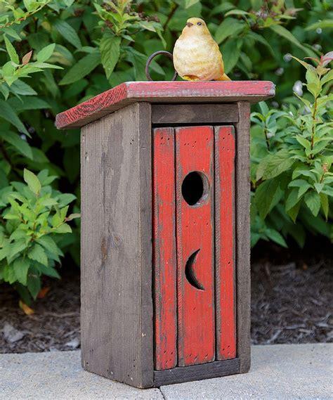 birdhouse outhouse zulilly vogelfutterhaus nistkasten
