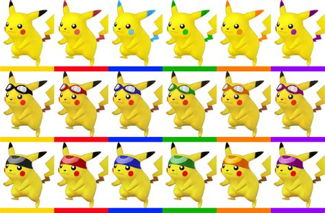 what color is pikachu pikachu s new colors and alternate costumes by