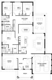 4 Bedroom Floor Plans by 25 Best Ideas About 4 Bedroom House Plans On Pinterest
