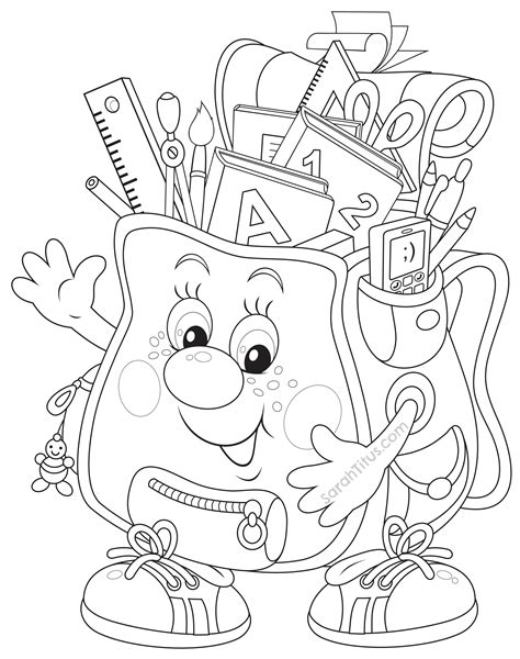 printable coloring pages back to school back to school coloring pages sarah titus