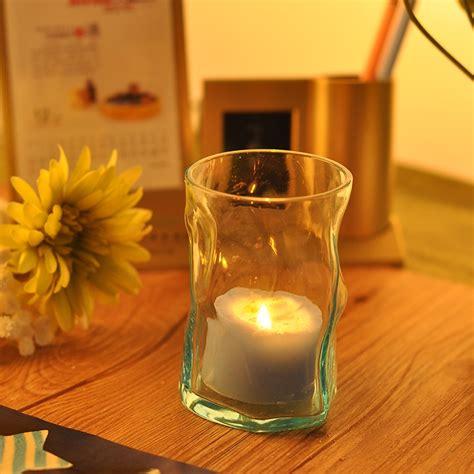 Lilin Bentuk khas pemegang lilin reka bentuk kaca kaca pemegang lilin