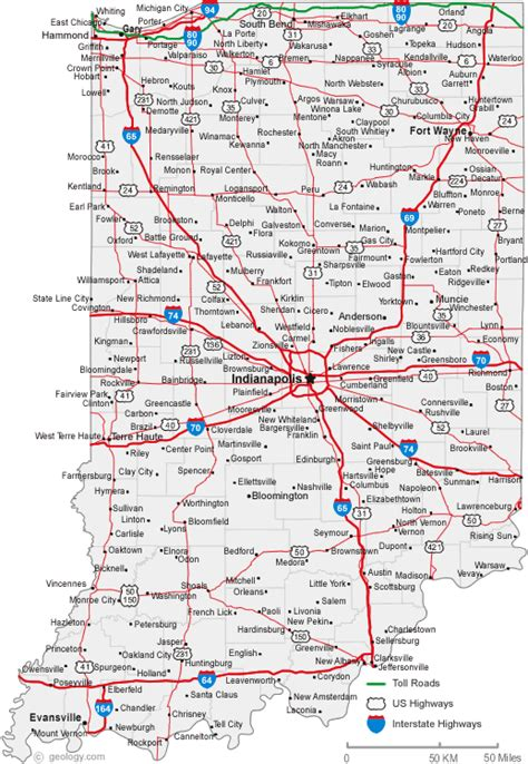 road map of indiana usa indiana map usa
