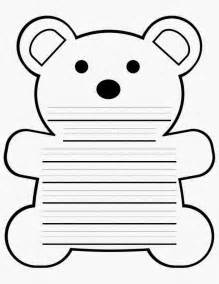 Printable Teddy Template by Best Photos Of Polar Writing Template Polar