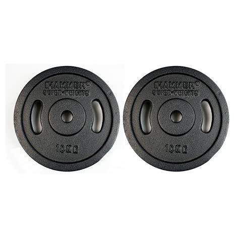 Plate Barbell buy hammer barbell plates 2x 10 kg black