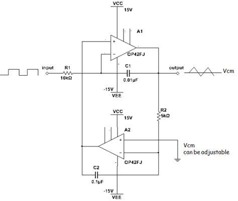 integrator circuit working integrator circuit triangle wave 28 images electronics is practical integrator circuit a
