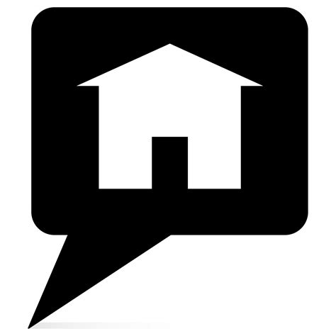 Haus Icon by House Icon Black Free Stock Photo Domain Pictures