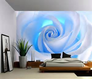 Self Adhesive Wall Mural Blue Rose Large Wall Mural Self Adhesive Vinyl Wallpaper