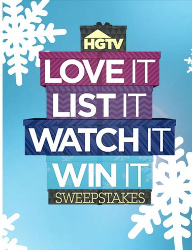 Hgtv 50000 Sweepstakes - hgtv love it list it win it sweepstakes win 50 000