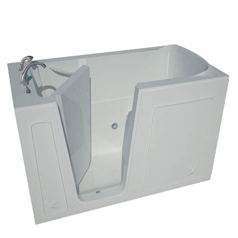 home depot walk in bathtub universal tubs 5 ft right drain walk in bathtub in white