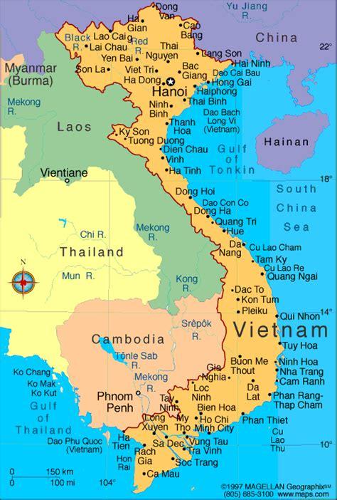Vietnam Map   Infoplease