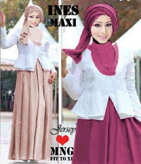 Gamis Pesta Warna Pink Fanta baju gamis ines maxi p 277 busana muslim blazer brokat