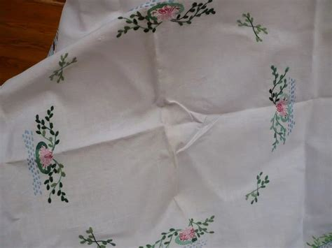 Linen Ruby Swan embroidered swan tablecloth looluu s ruby