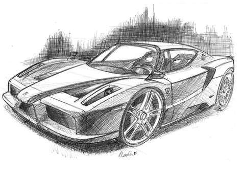 ferrari enzo sketch ferrari enzo drawing
