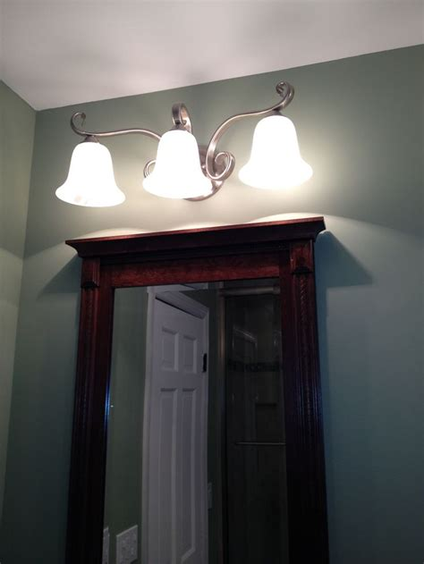 bathroom lighting above mirror 1000 images about bathroom redo on pinterest vinyls