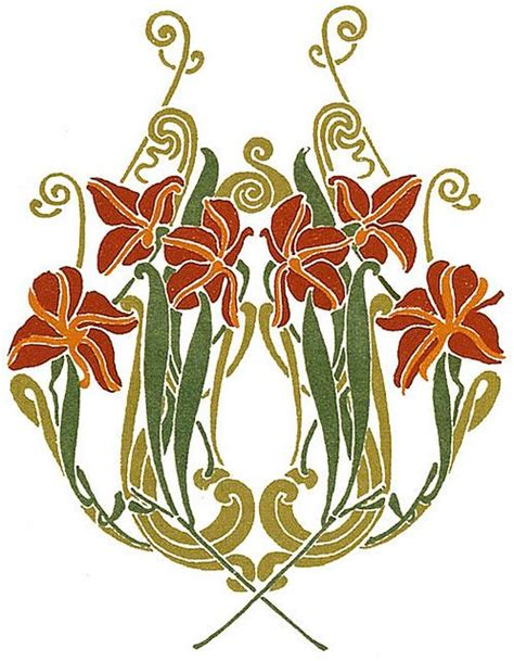 design art nouveau art nouveau design motifs full color art nouveau designs