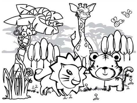 coloring animals jungle animal coloring pages to and print for free