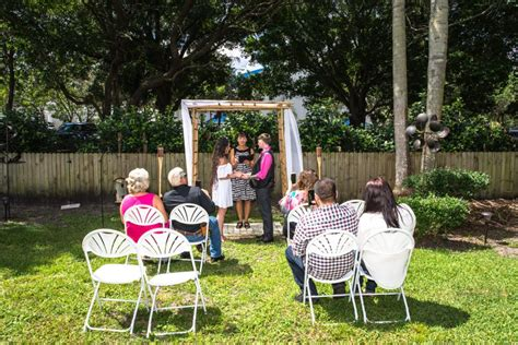 Backyard Wedding Officiant Palm Harbor Backyard Wedding Ceremony Packages