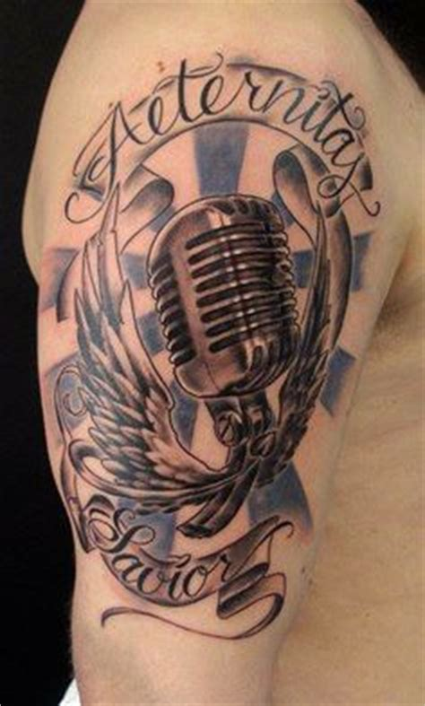microphone wings tattoo 1000 images about roman sestakov romka on pinterest
