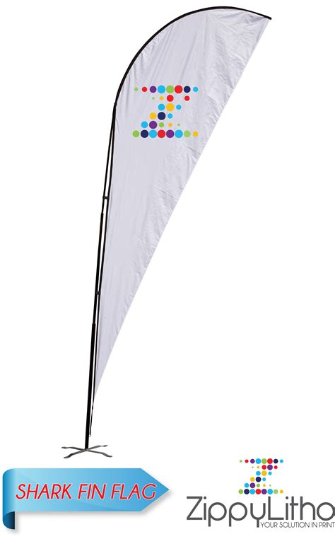 sharkfin banner template shark fin flag zippy litho