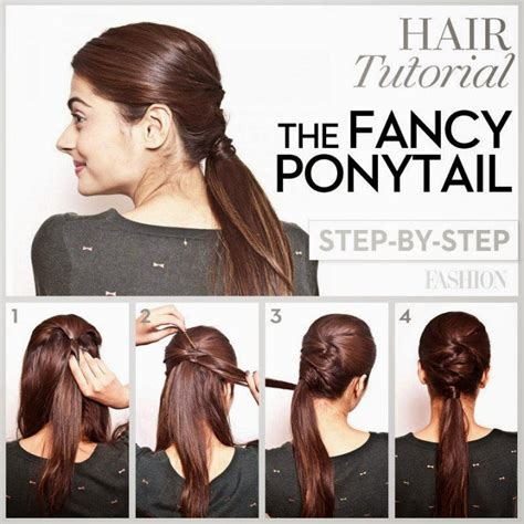 easy hairstyles glamrs easy ponytail hairstyles step by hair