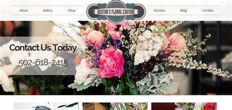 flower design website boston s floral couture website has a great web design