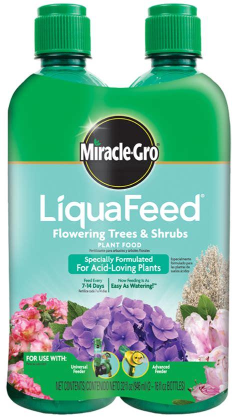 miracle gro liquafeed flowering trees shrubs refill