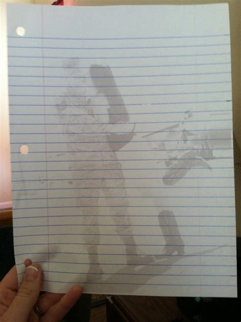 How To Make A Out Of Lined Paper - print washed out pictures onto lined paper for writing