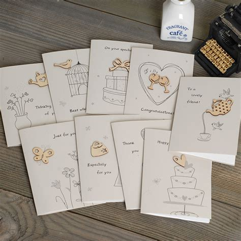 Envelopes For Handmade Cards - mini greeting cards with envelope wood ornament