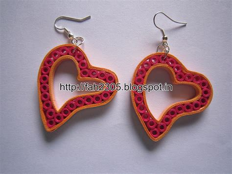 Paper Craft Paper Quilling Handmade Jewelry Earrings - fah creations handmade jewelry paper quilling