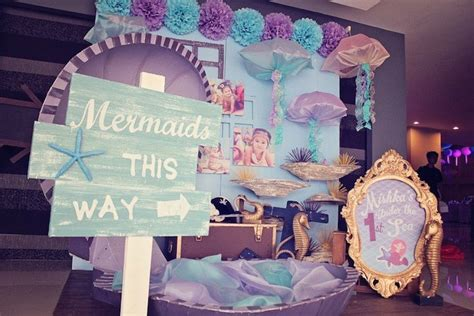 Mermaid And Pirate Decorations by Kara S Ideas Mermaids Vs Themed Birthday