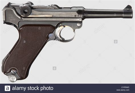 Bor Pistol pistol 08 krieghoff code quot 1936 quot luftwaffe cal 9 mm parabellum stock photo royalty free