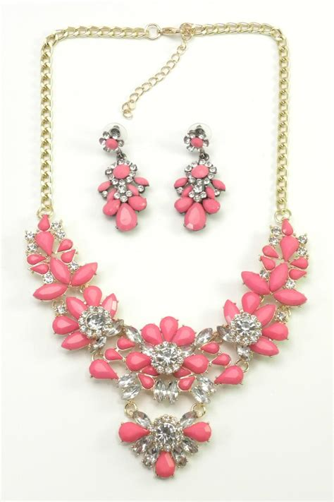 Set Mimi Lanscape Pink Gh mimi s gift gallery pink necklace set from kentucky shoptiques