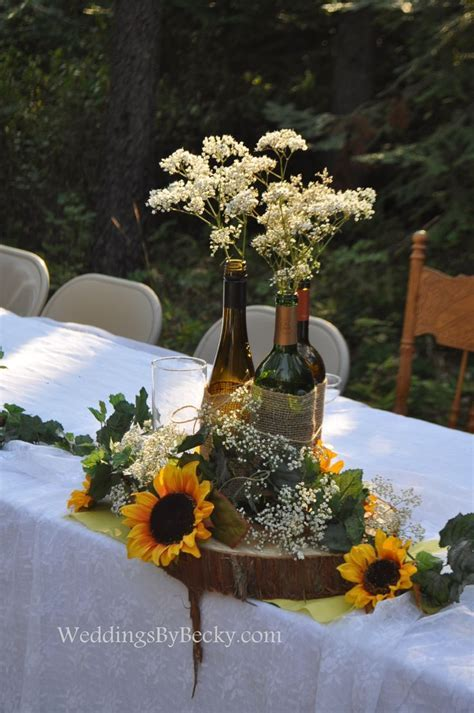 25  best ideas about Rustic sunflower centerpieces on