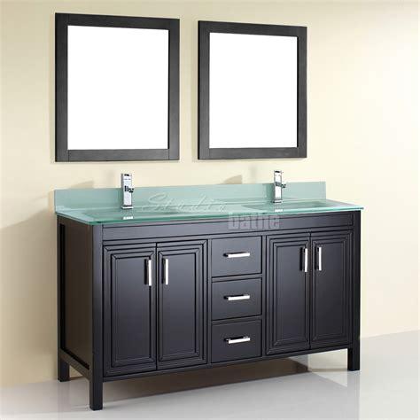 52 double sink vanity studio bathe kalize double vanity with mirrors kalize 60