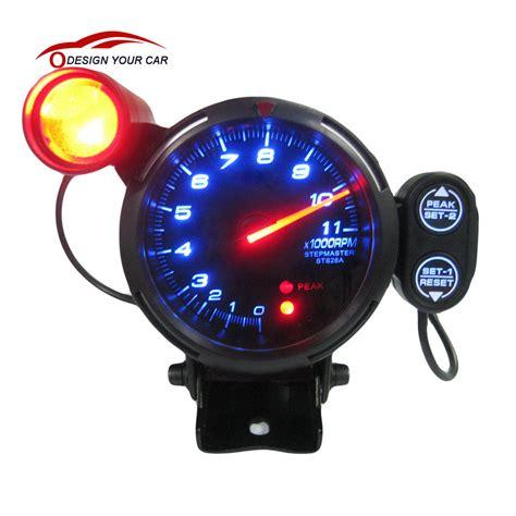 Rpm Led Motor kkmoon 2016 universal 3 5 quot speed tachometer kit blue